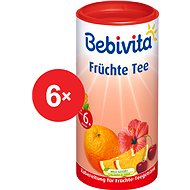 Bebivita Ovocný čaj - 6× 200 g - Čaj