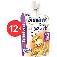 Sunárek Do ručičky s banánmi a jogurtom - 12x 80g