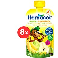 Hamánek Svačinka s hruškami a banánem 8× 120 g kapsička - Dětský příkrm