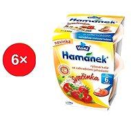 Hamánek Desiata ryžová kaša sa zhradními jahodymi 6x (2x130g)
