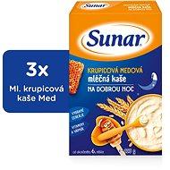 Sunarka krupicová kašička s medom na dobrú noc - 3x 225g + DARČEK