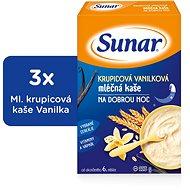 Sunarka krupicová kašička s vanilkou na dobrú noc - 3x 225g + DARČEK
