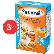 Sunarka medová kašička - 3x 225 g + DARČEK