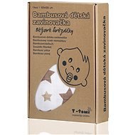 T-tomi Bambus-Verpackung 1 Stück - beige Sterne