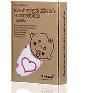 T-tomi Bambus-Verpackung 1 Stück - Herzen - Steckkissen