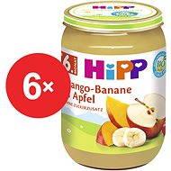 HiPP BIO Jablka s mangem a banány - 6× 190 g - Dětský příkrm