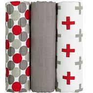 T-tomi Bambusové BIO pleny, 3 ks, červené kuličky - Dětské pleny