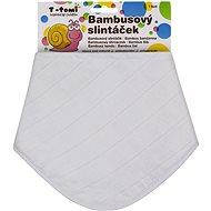 T-tomi Bambusový BIO slintáček, bílý