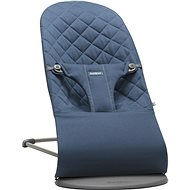 Babybjörn Bouncer Lounger BLISS Midnight Blue Cotton - Liege