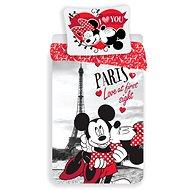 """Jerry Fabrics Mickey a Minnie in Paris """"I love you"""" - Dětské povlečení"""