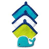 BabyOno umývacie utierky s hubkou - veľryba