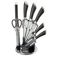 BerlingerHaus Messer im Ständer 8 Stück Carbon Metallic Line - Messer-Set