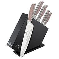 BerlingerHaus Sada nožů v dřevěném stojanu nerez 6ks - Messer-Set