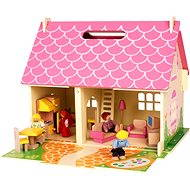 Portable wooden dollhouse