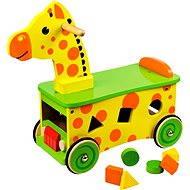 Dřevěný motorický vozík Žirafa - Herní set
