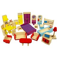 Wooden furniture for dollhouses