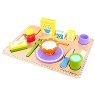 Wooden food - Breakfast on the tray - Play Set