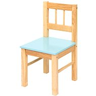 Baby blue wooden chair