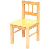 Detská žltá drevená stolička