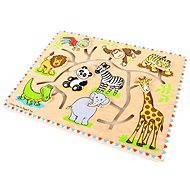 Ein großes hölzernes Labyrinth auf der Brett - Safari - Didaktisches Spielzeug