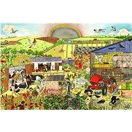Drevené puzzle - Farma