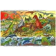 Drevené puzzle - Dinosaury