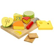Wooden food - cheese on a plate