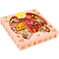 Wooden threading beads in a box - Fairies