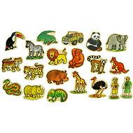 Wooden figurines - Magnets 20pc of the jungle