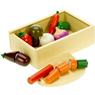 Drevené potraviny - Krájanie zeleniny