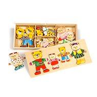 Dřevěné figurky - Medvědí rodinka - Puzzle