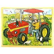 Dřevěné puzzle - Traktor