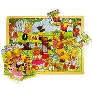 Wooden Jigsaw Puzzle - Bear Picnic - Puzzle