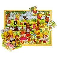 Holzpuzzle - Bär Picknick