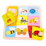 Insert wooden puzzle - 9 animals