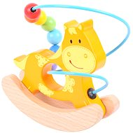 Dřevěný labyrint - Houpačka Koník - Didaktická hračka