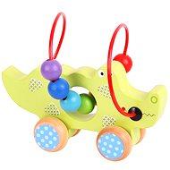 Motorický labyrint na kolečkách - Krokodýl - Didaktická hračka
