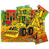 Holzpuzzle - Bagger
