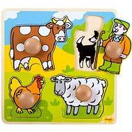 Drevené vkladacie puzzle - Farma