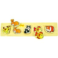 Wooden broad insertion puzzle - Pets