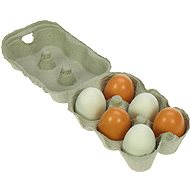 Wooden Food - Wooden eggs in a box - Play Set