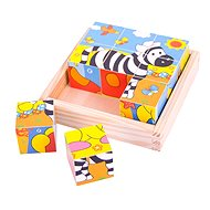 Picture wooden blocks - Safari