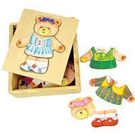 Wooden dressing puzzle in a box - Mrs. Medvědice