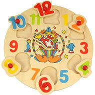 Wooden Inserting Puzzle - Clock with Clown