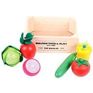 Drevené potraviny - Šalát v prepravke