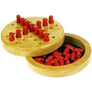 Dřevěná hra - Mini solitaire - Společenská hra