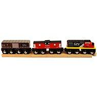 Wooden train sets - CN freight train