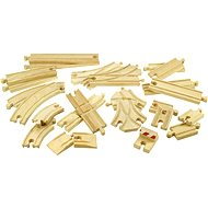 Wooden Train Trains - Set of tracks 25 pieces