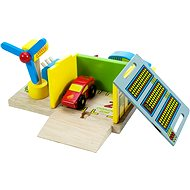 Wooden train sets - Charging Station + 2 cars