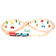 Wooden train sets - Eight home stretch with 42 parts